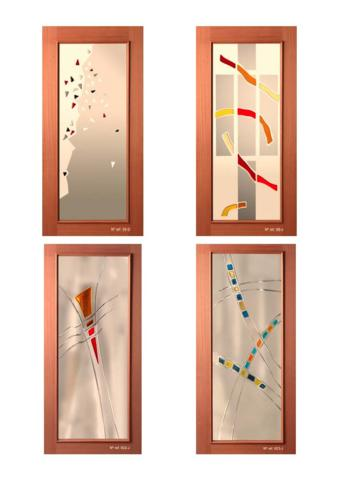 Decoracion cristales ventanas frascos de cristal para - Cristales decorados para puertas ...
